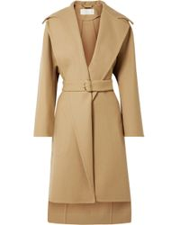 Chloé - Belted Wool-blend Coat - Lyst