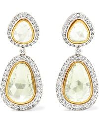 Amrapali - 18-karat Yellow And White Gold Diamond Earrings - Lyst