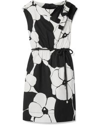Marc Jacobs - Floral-print Cotton-poplin Dress - Lyst