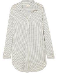 Eberjey - The Boyfriend Striped Stretch-modal Pyjama Top - Lyst