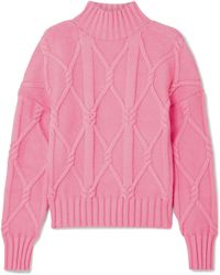 J.Crew - Tucker Cable-knit Cotton-blend Jumper - Lyst