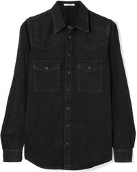 Givenchy - Embroidered Denim Shirt - Lyst