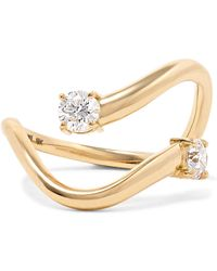 Melissa Kaye - Aria Skye 18-karat Gold Diamond Ring Gold 7 - Lyst