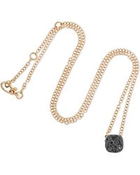 Pomellato - Nudo 18-karat Rose Gold Diamond Necklace - Lyst