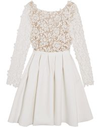 Rime Arodaky - Clover Embroidered Tulle And Cady Mini Dress - Lyst