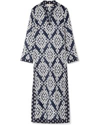 Tory Burch | Stephanie Printed Cotton-voile Kaftan | Lyst
