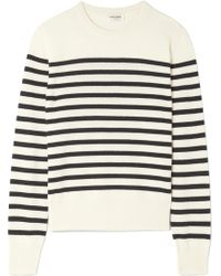 Saint Laurent - Marino Striped Cashmere Sweater - Lyst