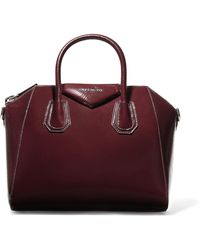 Givenchy - Antigona Small Textured Patent-leather Tote - Lyst