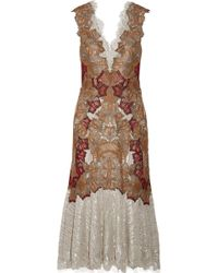 Jonathan Simkhai - Metallic Embroided Dress - Lyst
