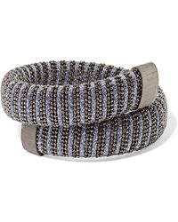 Carolina Bucci - Caro Blackened Sterling Silver And Lurex Bracelet - Lyst