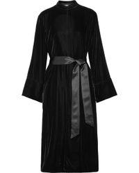 Elizabeth and James - Mitzi Oversized Belted Silk Satin-trimmed Velvet Jacket - Lyst