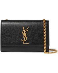 Saint Laurent - Monogramme Kate Small Textured-leather Shoulder Bag - Lyst