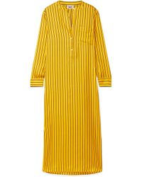 Sleepy Jones - Georgia Oversized Striped Silk-satin Twill Nightdress - Lyst