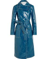 Sonia Rykiel - Belted Crinkled-vinyl Trench Coat - Lyst