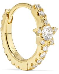 Maria Tash - Star Eternity 18-karat Gold Diamond Earring - Lyst