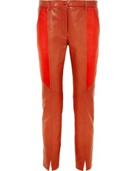 Givenchy | Leather Skinny Trousers | Lyst