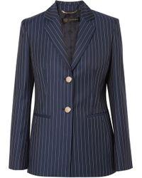 Versace | Striped Wool-twill Blazer | Lyst