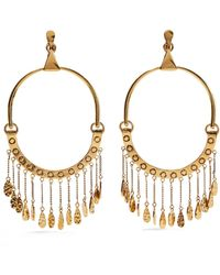 Chloé - Quinn Oversized Gold-tone Clip Earrings - Lyst