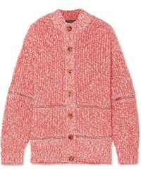 Alexander McQueen - Zip-embellished Cotton And Wool-blend Cardigan - Lyst