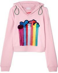 Mira Mikati - Tasseled Embroidered Cotton-jersey Hoodie - Lyst