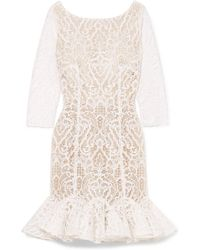 Rime Arodaky - Gillian Ruffled Lace Mini Dress - Lyst