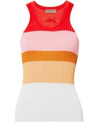 Emilio Pucci - Striped Ribbed-knit Top - Lyst