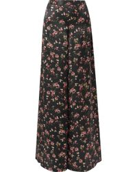 Cami NYC - The Tommy Floral-print Silk-charmeuse Wide-leg Trousers - Lyst