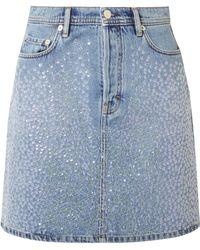 Acne Studios - Sharmayne Sequined Denim Mini Skirt - Lyst