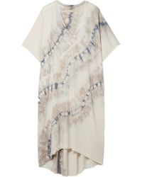 Raquel Allegra - Oversized Tie-dyed Cotton-blend Stretch-jersey Dress - Lyst