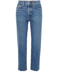 RE/DONE - Originals Stovepipe High-rise Straight-leg Jeans - Lyst