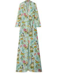 Vilshenko - Sylvia Floral-print Silk-jacquard Maxi Dress - Lyst