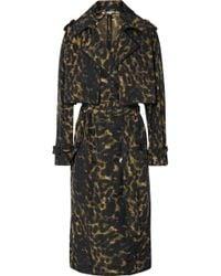 Stella McCartney - Leopard-print Nylon Trench Coat - Lyst