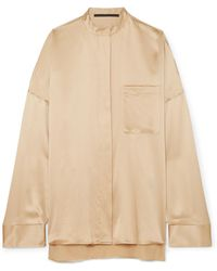 Haider Ackermann - Oversized Silk-charmeuse Shirt - Lyst