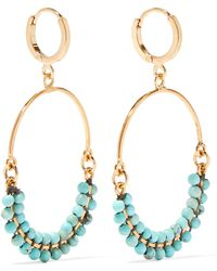 Isabel Marant - Gold-plated Beaded Earrings - Lyst