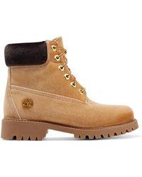 Off-White c/o Virgil Abloh - Timberland Velvet Ankle Boots - Lyst