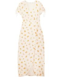 Madewell - Magdalena Wrap-effect Floral-print Silk Crepe De Chine Dress - Lyst