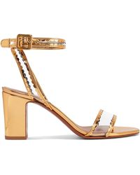 Tabitha Simmons - Leticia Patent-leather And Pvc Sandals - Lyst