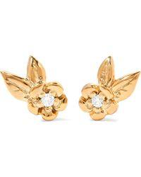 Meadowlark - Alba Gold Diamond Earrings - Lyst