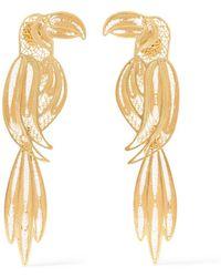 Mallarino - Tucan Gold Vermeil Earrings - Lyst