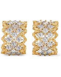 Buccellati - Rombi 18-karat Yellow And White Gold Diamond Earrings - Lyst