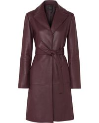 Theory - Leather Trench Coat - Lyst