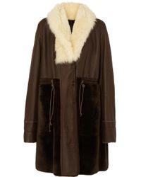 Chloé - Reversible Shearling Coat - Lyst