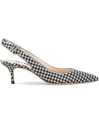 Gianvito Rossi - 65 Houndstooth Calf Hair Slingback Court Shoes - Lyst