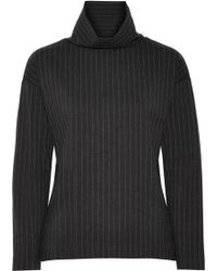 Totême  - Minerve Pinstriped Stretch-jersey Turtleneck Top - Lyst