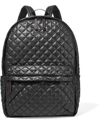 MZ Wallace - Metro Leather-trimmed Quilted Shell Backpack - Lyst