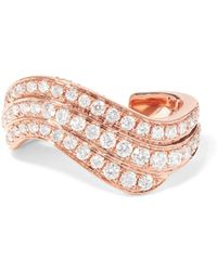 Anita Ko - Wave 18-karat Rose Gold Diamond Ear Cuff - Lyst
