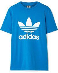 adidas Originals - Trefoil Printed Stretch-cotton Jersey T-shirt - Lyst