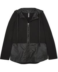 NO KA 'OI - Nana Cotton-blend Jersey And Shell Jacket - Lyst