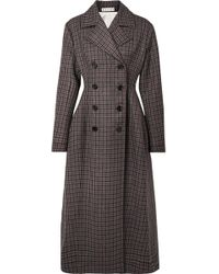 Marni - Double-breasted Checked Wool Coat - Lyst