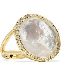 Ippolita - Lollipop 18-karat Gold, Mother-of-pearl And Diamond Ring Gold 7 - Lyst